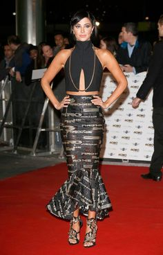 Pin for Later: See the Stars Who Sparkled on the MOBO Awards Red Carpet Tulisa Contostavlos A dramatic frill-hemmed skirt by Ping He made Tulisa stand out, but it's those Giuseppe Zanotti sandals (£1,440) we've got our eye on.