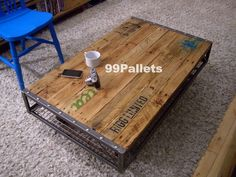 Construct Your Own Pallet Coffee Table | 99 Pallets