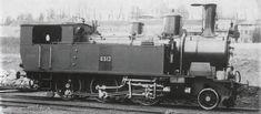 Tender-Locomotive Ec 3/4 Nr. 6512 der Schweizeriſchen Bundesbahnen, bis 1903 Nr. 612 der Jura-Simplon-Bahn, gebaut 1900 inn der Schweizeriſchen Locomotiv- und Machines-Fabrique zů Winterthur (Fabricationsnr. 1305), 1945 als Nr. 5608 an die Niderländiſchen Eiſenbahnen, 1948 außer Dienſt geſtellt und anſchließend abgebrochen.