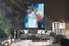 Large Abstract wall art,Original Abstract wall art,large art on canvas,xl abstract painting,abstract wall art Large Abstract Wall Art, Large Painting, Painting Canvas, Textured Painting, Knife Painting, Office Wall Art, Home Decor Wall Art, Art Decor, Office Decor