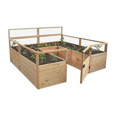 8 ft. x 8 ft. Cedar Raised Garden Bed, Natural Wood