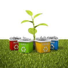 Recycling is good for you and good for the environment. Go Green: Start Your Own Home Recycling Center! Green Apartment, Apartment Living, Recycling Center, Apartment Complexes, Go Green, Own Home, Planter Pots, Cool Stuff, Environment
