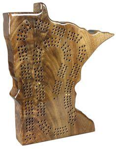 Flaming Walnut cribbage board