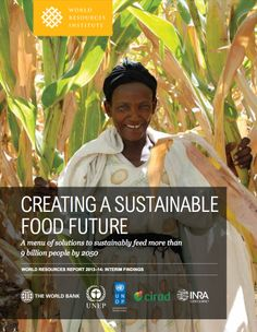 Creating a Sustainable Food Future: Interim Findings --- A menu of solutions to sustainably feed more than 9 billion people by 2050 Agricultural Development, Economic Development, United Nations Environment Programme, Environmental Research, Sustainable Food, Economics, Sustainability, Acting, Menu