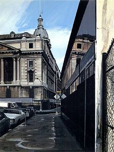 Richard Estes Old Police Headquarters ; 1984