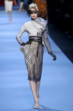 Christian Dior Spring 2011. Reminds me of Cruella DeVille