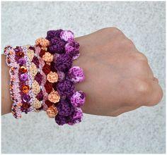 boho marsala crochet bracelet,colorful handmade cuff,statement ethnic boho wristband,gift for her,ecofriendly cuff,marsala crochet jewelery