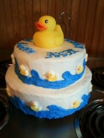 duck birthday cake   Jesse's 1st birthday cake Rubber Ducky The Great Cake Contest of 2011 ...