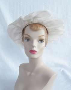 Clearance1 1960's Vintage Off White Floppy by MyVintageHatShop