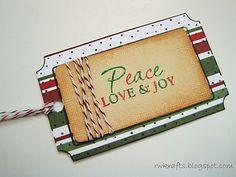 Hero Arts stamped christmas tag
