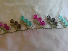 This Pin was discovered by Nur Silk Ribbon Embroidery, Embroidery Stitches, Crochet Unique, Needle Tatting, Lace Making, Baby Knitting Patterns, Diy And Crafts, Sewing, Beautiful