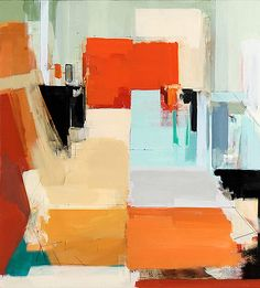 Modern grids.  Peri Schwartz, based in NY, began her studies at BU's School of Fine Arts, and receive her MFA from Queens College. Realism & abstraction come together in her pieces as she works directly with her subjects depicting them with deliberate linear strokes.  In paintings, prints and drawings, she focuses on composition and the interplay of color, light and space.