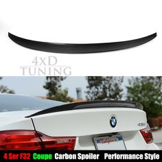 93.92$  Buy now - http://alixqp.worldwells.pw/go.php?t=32471334293 - Performance Style 4 Series for BMW for BMW 4 Series F32 Coupe 2 - Door 2014 2015 2016 Carbon Fiber Rear Spoiler Trunk Wing 93.92$