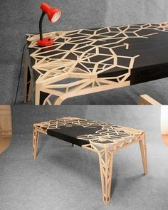 Wooden Coffee Table by David Puel & Thomas Libé Custom Furniture, Wood Furniture, Furniture Design, Furniture Stores, Wood Table Design, Coffee Table Design, Coffee Tables, Woodworking Furniture Plans, Diy Woodworking