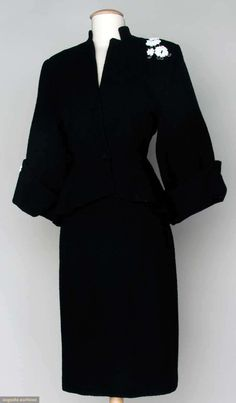 "~Lili Ann Wool Suit, Early 1950's, Augusta Auctions, November 13, 2013 - NYC~  ""This is gorgeous! !!"