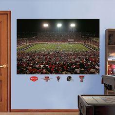 Fathead Texas Tech Red Raiders Jones At&t Stadium Wall Decals, Multicolor