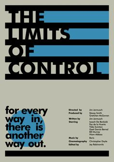 The alternative version of The Limits Of Control movie poster. By Maa Luvs
