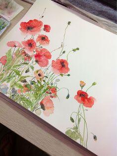 art • painting • watercolor • flowers • floral