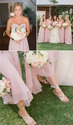 This shade of pink for the bridesmaids is too pretty