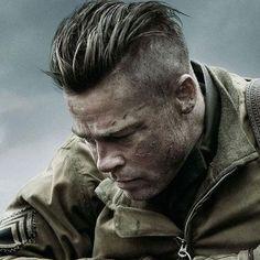 Brad Pitt Fury Hairstyle - Best Brad Pitt Haircuts: How To Style Brad Pitt's Hairstyles, Haircut Styles, and Beard #menshairstyles #menshair #menshaircuts #menshaircutideas #menshairstyletrends #mensfashion #mensstyle #fade #undercut #bradpitt #celebrity #bradpitthair Mens Modern Hairstyles, Latest Men Hairstyles, Trending Hairstyles, Undercut Men, Undercut Hairstyles, Brad Pitt Hairstyles, Cool Haircuts, Haircuts For Men, Cabelo Do Brad Pitt