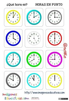 Spanish Learning Videos Apps For Kids Teaching Time, Teaching Spanish, Math Clock, Learn To Tell Time, Spanish Songs, Learn Spanish, Spanish Games, French Worksheets, Reading Comprehension Passages