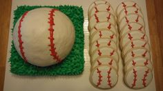 baseball cake and cookies
