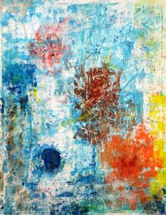 "Original #abstract #painting 'blue, orange & yellow"" by Saatchi artist #marinadewit"