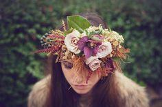 Delicious Bride hair updo | Burgundy Wedding | Matrimonio color borgogna | Sweet September...http://theproposalwedding.blogspot.it/