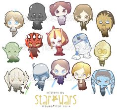 Star Wars Stickers by TraumaTize on Etsy