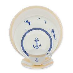P by Prouna Marine Blue Dinnerware Collection