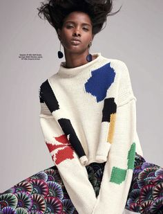 perfect & poisonous — Remix: Ricardo Simal for Elle South Africa March. Knitwear Fashion, Knit Fashion, Sweater Fashion, Cool Sweaters, Winter Sweaters, December Outfits, Chunky Knitwear, Vintage Crochet Patterns, Moda Boho