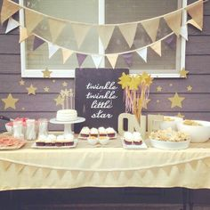 Looking for first birthday party ideas for your baby boys? Here are 37 rocking and cute birthday party ideas! Girl First Birthday, Baby Birthday, First Birthday Parties, Birthday Party Themes, Birthday Table, Birthday Ideas, Star Wars Party, Twinkle Star Party, Twinkle Twinkle