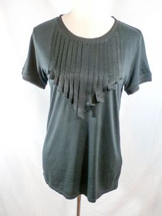 NWOT CLUB MONACO Sz M BLACK SHORT SLEEVE TOP #ClubMonaco #KnitTop #Any