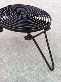 spiral steel folding camp grill