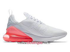 new products dbe94 4e6bc Nike Air Max 270 White Hot Punch AH8050-103 Chaussure Nike Sneaker Pas Cher  Pour Homme Femme - AH8050-103