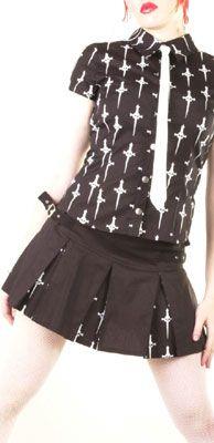 "LIP SERVICE LS Daggers "" In A League Of Her Own"" mini skirt #56-129"