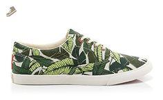 "Bucketfeet Women's ""SavuSavu"" Lace-Down Canvas Fashion Sneakers (5 B(M) US) - Bucketfeet sneakers for women (*Amazon Partner-Link)"