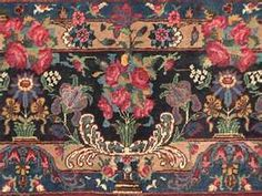Antique Persian Rug Arabic Design Rugs On Carpet Carpets Mosaic