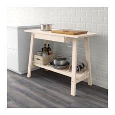 IKEA - NORRÅKER, Sideboard, Gives you extra storage, utility and work space.The bottom shelf is designed for storing pots and pans.You can store anything from cutlery and napkins to laptops and pens in the generous drawer beneath the countertop.
