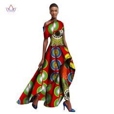 2018 Ankara Dashiki Fashions Traditional African Clothing for Women Long  Dresses + Long Pants 580281d18ce0