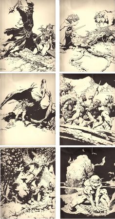 FRANK FRAZETTA - Lord of the Rings portfolio - 1000 copy print run - prints by io9.gizmodo.com