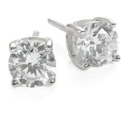 Crislu Cubic Zirconia and Sterling  Stud Earrings ($72) ❤ liked on Polyvore featuring jewelry, earrings, accessories, silver, stud earring set, cz stud earrings, cz earrings, cz jewelry and crislu earrings