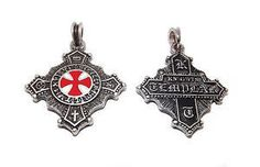 Knights templar cross pendant order knight medieval sca silver knights templar cross necklace aloadofball Image collections
