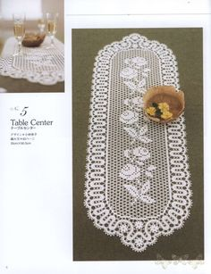 Gallery.ru / Фото #6 - Elegant Floral Crochet Lace Doily Table Cloth - igoda