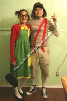 Que cute! como me hubiese gustado de disfrazarme como el Chavo y la Chilindrina para Hallowenn.. pero aqui nadie hubiese sabido quien c*ño somos!   ---  Homemade El Chavo del Ocho and Chilindrina Couple Costume: halloween costume
