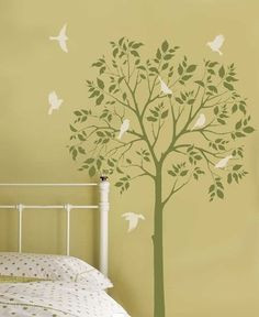 Gonna be painting trees this evening in the kids' room. With a glass of wine. lol