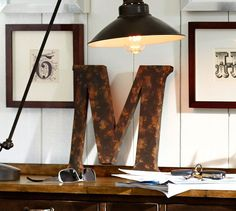 Shop metal letters from Pottery Barn. Our furniture, home decor and accessories collections feature metal letters in quality materials and classic styles. Diy Letters, Letter A Crafts, Metal Letters, Framed Letters, Marquee Letters, Large Letters, Metal Walls, Metal Wall Art, Decoration