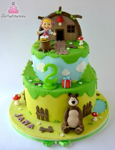 Masha and the Bear cake