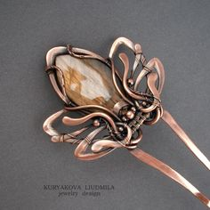 DeviantArt is the world's largest online social community for artists and art enthusiasts, allowing people to connect through the creation and sharing of art. Leaf Jewelry, Copper Jewelry, Jewelry Crafts, Jewelry Art, Jewelry Design, Wire Crafts, Designer Jewelry, Jewelry Ideas, Handmade Wire Jewelry