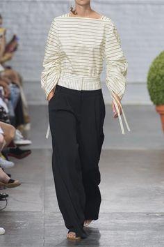Tibi - Striped Cotton-poplin Top - Ivory - US12